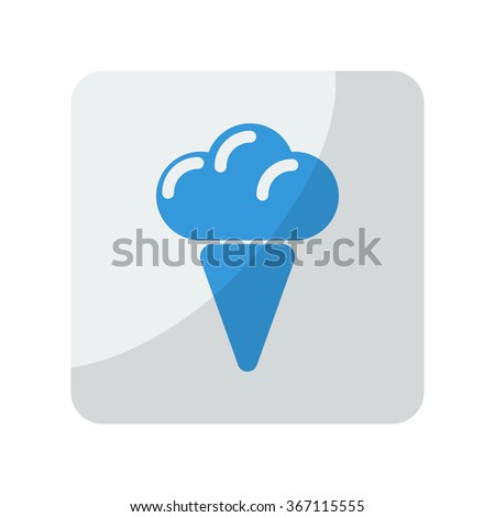 Blue Ice Cream icon on grey rounded square button on white