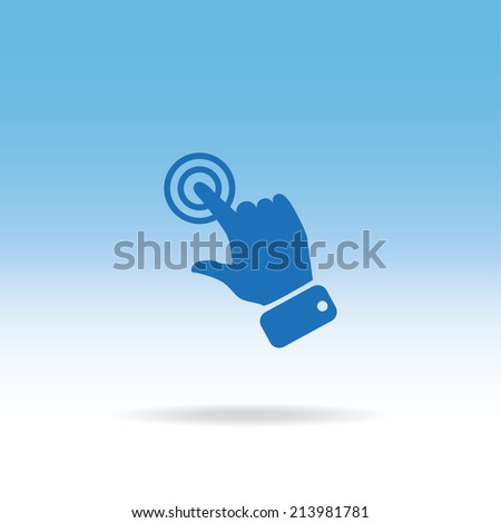 blue icon vector design - stock vector