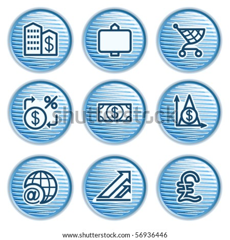 Blue icon with button 23 - stock vector