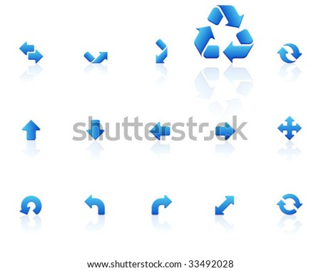 blue icons | set 16 - stock vector