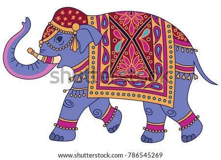 Decorated Indian Elephant Stock Images, Royalty-Free ...