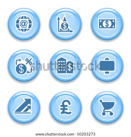 Blue internet button 23 - stock vector