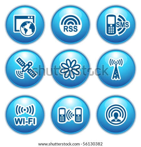Blue internet icons 30