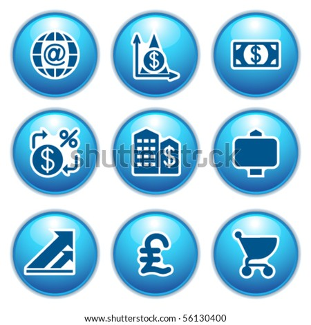 Blue internet icons 23 - stock vector