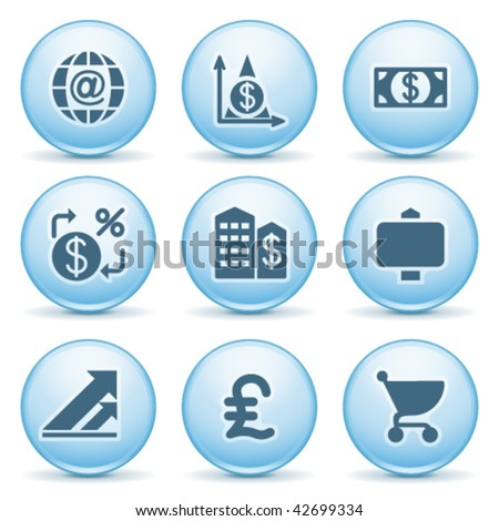 Blue internet label 23 - stock vector