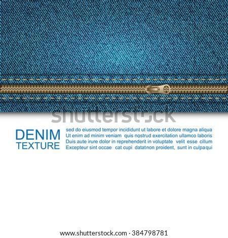 Blue jeans denim texture ,Jeans background,Vector - stock vector