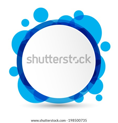 blue labels. Vector. - stock vector