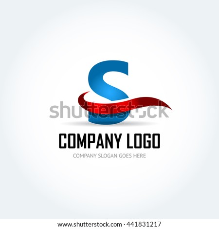 blue letter s red ribbon logo stock vector 441831217 - shutterstock
