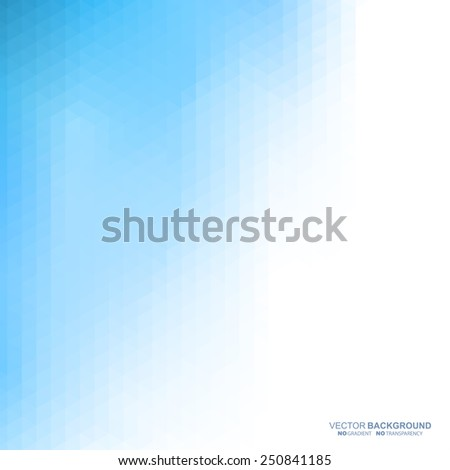 Blue light abstract geometric background. Vector illustration does not contain gradients and transparency - stock vector