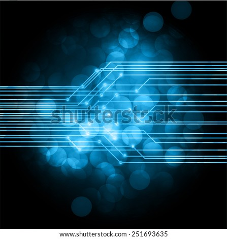 Blue Light Abstract Technology background for computer graphic website and internet, circuit