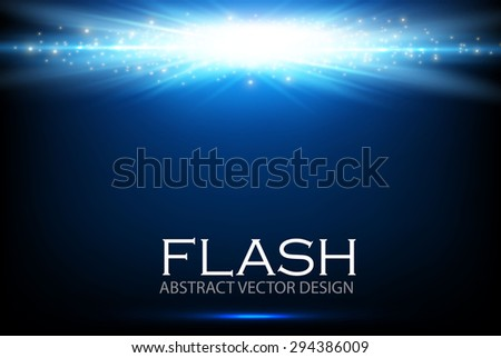 Blue light design. Illuminated illustration. Electric flash for your business design.  Vector illustration. - stock vector