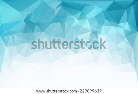 Blue Light Polygonal Mosaic Background, Vector illustration,  Business Design Templates - stock vector