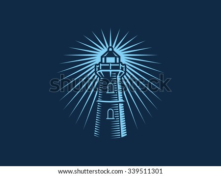 Blue Lighthouse - stock vector
