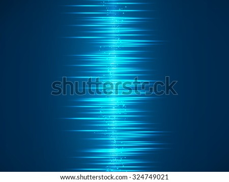 Blue lights abstract vector backgrounds - stock vector