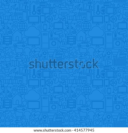 internet things line icons set circle stock vector 351007667