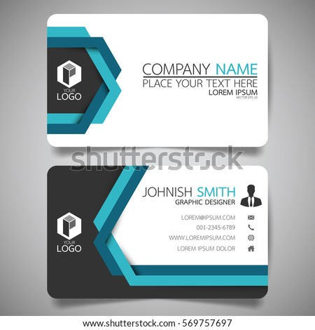 Blue line modern creative business card stock vector royalty free blue line modern creative business card and name cardhorizontal simple clean template vector design cheaphphosting Choice Image
