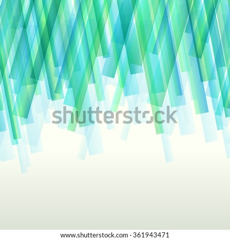 Blue lines abstract transparent vector background concept illustration - stock vector