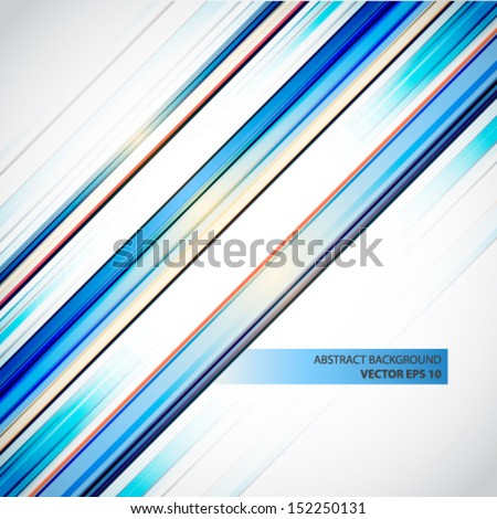 Blue lines abstract vector background  - stock vector