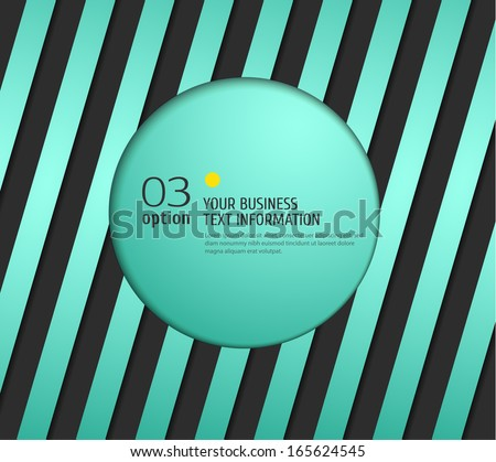 Blue lines on dark background. Business label with shadow. Vector illustration. - stock vector