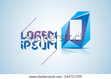Blue Logo Element - stock vector