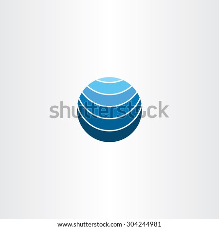 blue logo globe earth symbol element design - stock vector