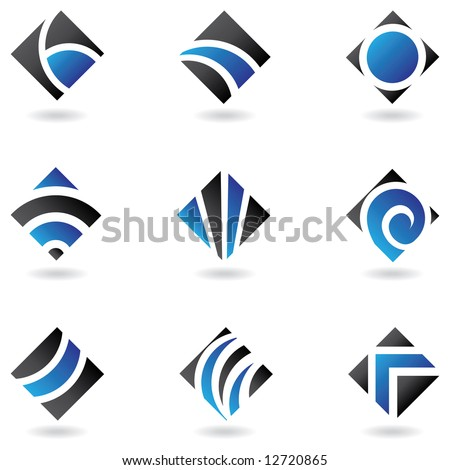 Blue logos to go with your company name - stock vector