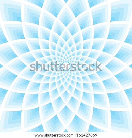 Blue lotus pattern vector illustration - stock vector