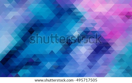 Blue Low polygon Triangle Pattern Background
