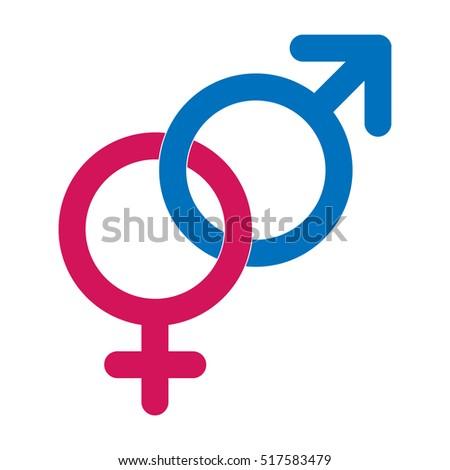 blue male pink female linked gender stock vector 479259388