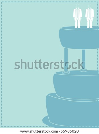 Blue male wedding background 2 - vector