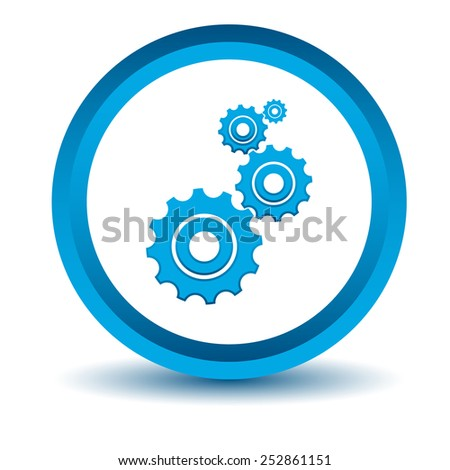 Blue mechanism icon on a white background. Vector illustration