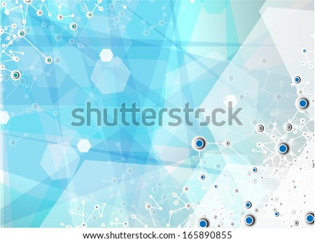 Blue Medical abstract background  - stock vector