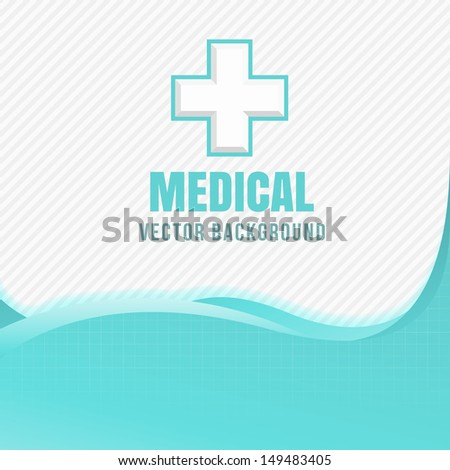 Blue medical design with crosses - stock vector