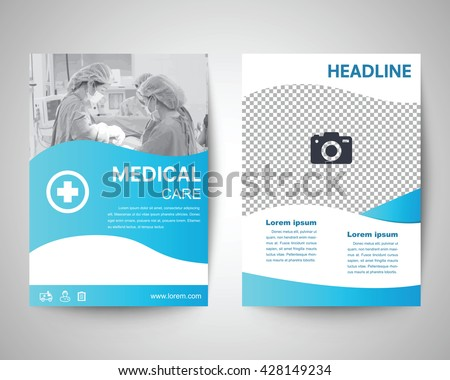 Nice Blue Medical Flyer Template, Brochure Background, Leaflet With Cover,  Vector Design In A4 Pictures Gallery
