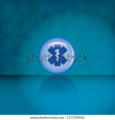 Blue medical symbol on texture.vector - stock vector