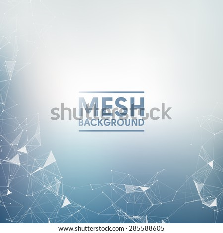 Blue Mesh Vector Background | EPS10 Design - stock vector