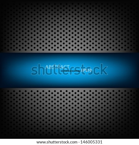 blue metal background pattern texture grey metal steel message board for text and message design eps10