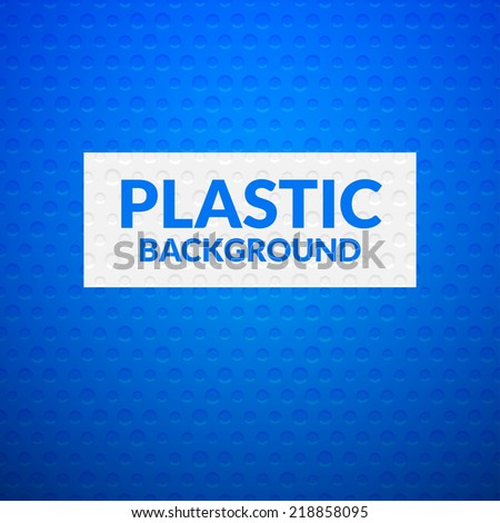 Blue metal or plastic texture with holes, pattern background vector illustration - stock vector