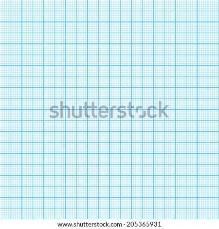 Blue millimeter paper, vector image, seamless background. - stock vector