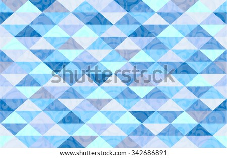 Blue Mint Marble Triangle Pattern Background Illustration