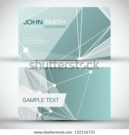 Blue Modern Abstract Business - Card Set | EPS10 Vector Design - stock vector