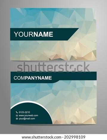 Blue Modern Business Card  - stock vector