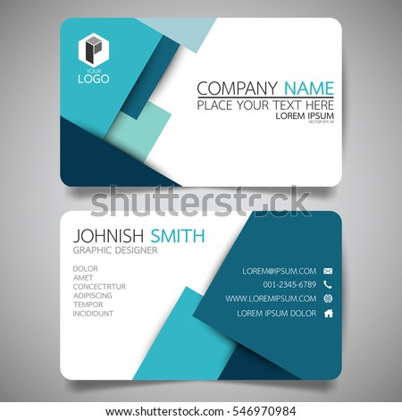 blue modern creative business card name stock vector 546970984