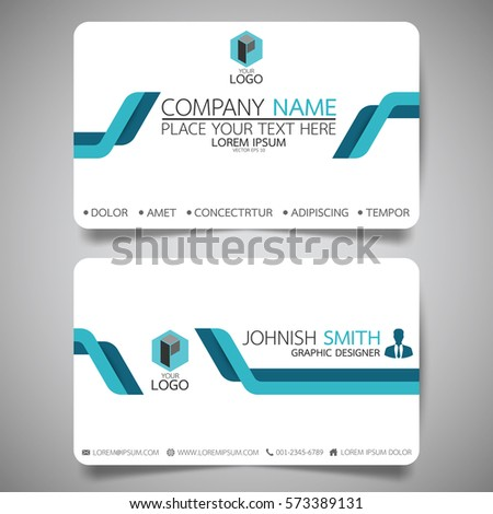 Blue modern creative business card name stock vector royalty free blue modern creative business card and name cardhorizontal simple clean template vector design reheart Images