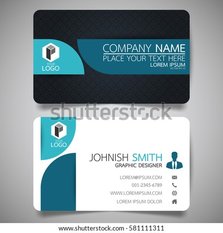Blue modern creative business card name stock vector hd royalty blue modern creative business card and name cardhorizontal simple clean template vector design reheart Image collections