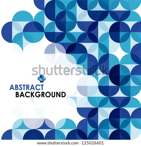 Blue modern geometrical abstract background - stock vector