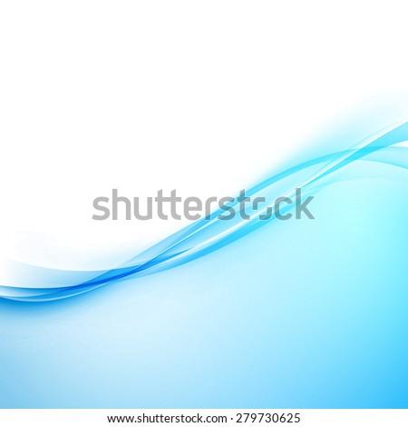 Blue modern hi-tech border abstract design. Vector illustration - stock vector