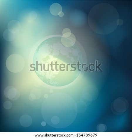 Blue moon abstract background - stock vector