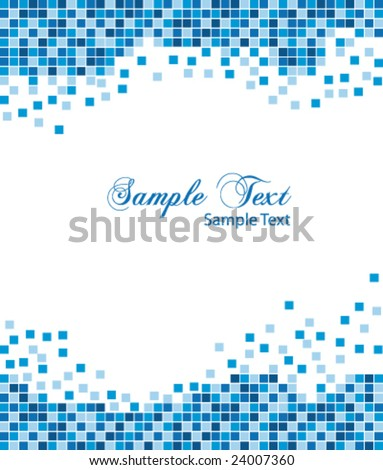 Blue mosaic business vector background - stock vector