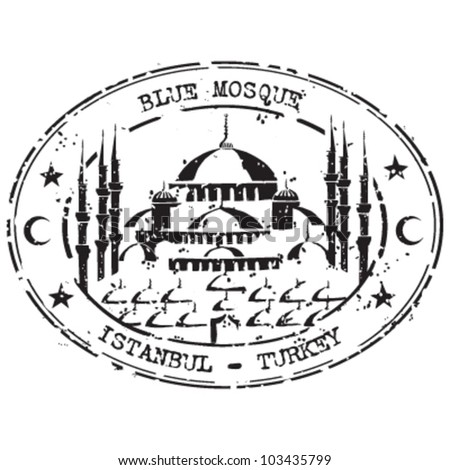 Blue Mosque Istanbul Turkey - stock vector